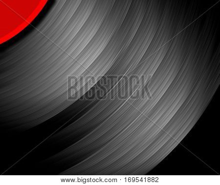 A fractal rendering of a 12 inch vinyl record.