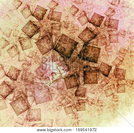 Abstract cube pattern designed to look similar to Leonardo DaVinci.