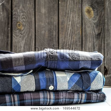 Folded Men's Shirts