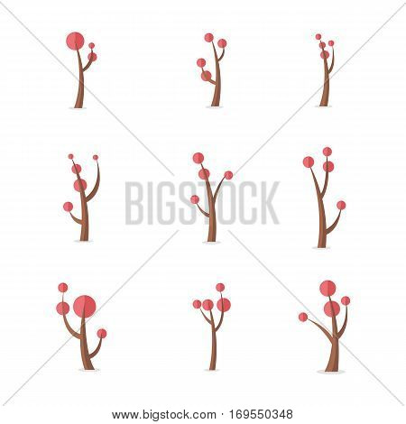 Set of tree at spring vector collection stock