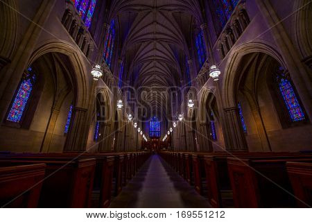 DURHAM - MAY 29: Intricate details of duke chapel in durham NC on May 29, 2016 in Durham, NC, US