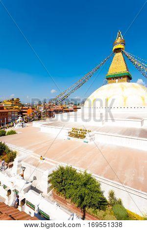 Boudhanath Stupa High Angle View