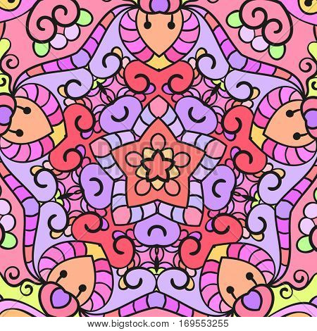 Abstract colorful background, Pentagon ornamental texture