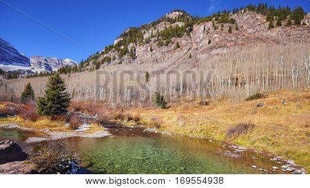 Mountain Autumn Landscape, Colorado, Usa.