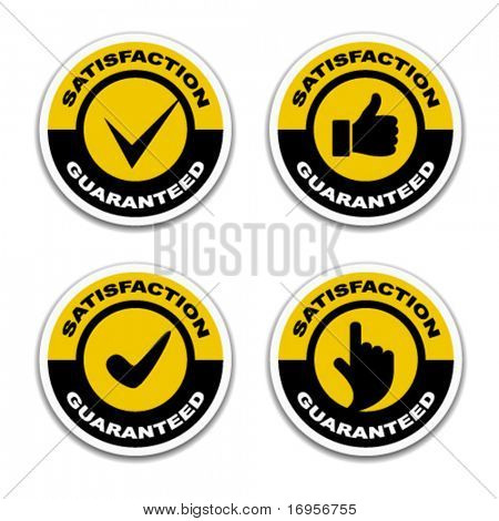 vector satisfaction guaranteed stickers
