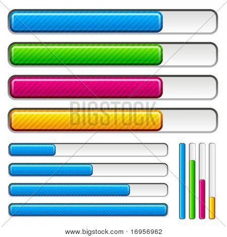 vector loading progress bars