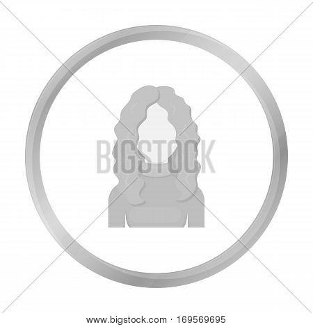 Redhead icon monochrome. Single avatar, peaople icon from the big avatar monochrome.