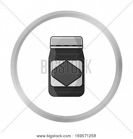 Australian food spread icon in monochrome design isolated on white background. Australia symbol stock vector illustration.