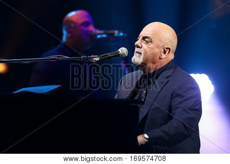 NEW YORK-NOV 21: Singer Billy Joel performs in concert at Madison Square Garden on November 21, 2016 in New York City.