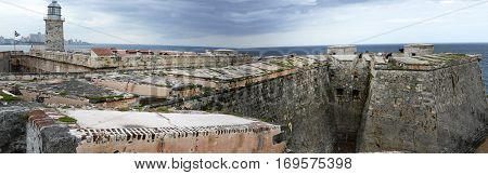 Castle And Lighthouse Of El Morro At Havana