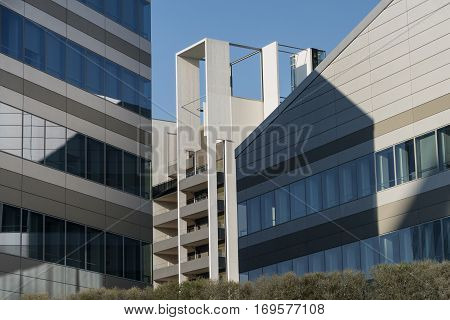 MILAN, ITALY - AUGUST 27, 2016: Milan (Lombardy Italy): modern office buildings in the new Portello area