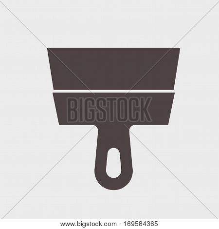 putty knife tool icon on a gray background Vector illustration.