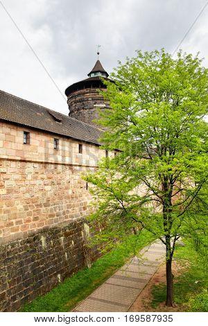Old city walls of Nuremberg, Germany
