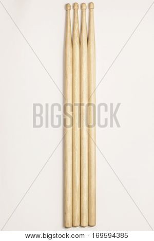 Drumsticks On A White Background