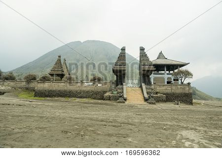 Old Hindu temple near Mt. Bromo on East Java Indonesia