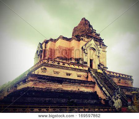 Ancient pagoda at doi suthep chiangmai province.Thailand