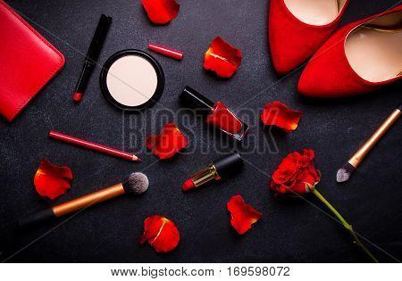 Cosmetic Black Backgroud