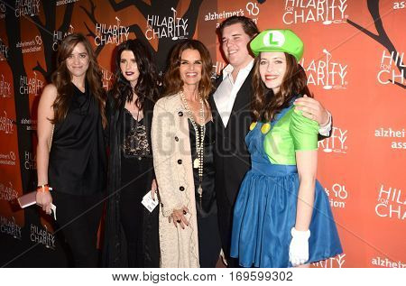 LOS ANGELES - OCT 15:  C, K Schwarzenegger, M Shriver, C Schwarzenegger, Lauren Miller at the Hilarity for Charity Show:  at Hollywood Palladium, on October 15, 2016 in Los Angeles, CA