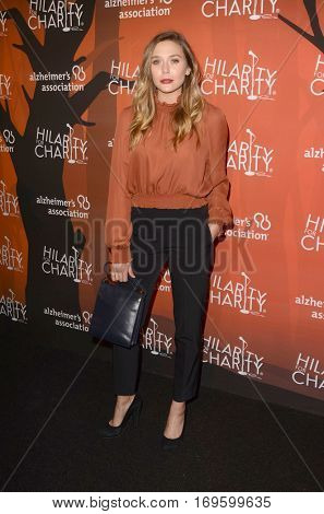 LOS ANGELES - OCT 15:  Elizabeth Olsen at the 5th Annual Hilarity for Charity Variety Show: Seth Rogen's Halloween at Hollywood Palladium, on October 15, 2016 in Los Angeles, CA