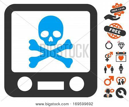 Xray Screening pictograph with bonus decorative design elements. Vector illustration style is flat iconic elements for web design app user interfaces.
