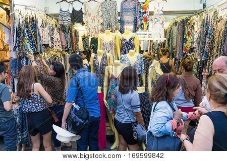 BANGKOKTHAILAND - 2017 FEBUARY 5 : The Chatuchak or Jatujak Weekend Market a popular tourist destination. is the largest souvenir market in Thailand.