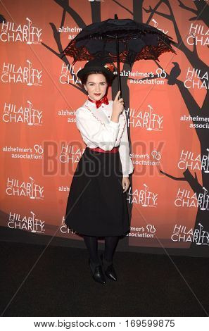LOS ANGELES - OCT 15:  Katie Stevens at the 5th Annual Hilarity for Charity Variety Show: Seth Rogen's Halloween at Hollywood Palladium, on October 15, 2016 in Los Angeles, CA