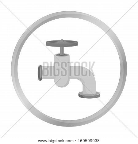 Tap icon in monochrome style isolated on white background. Build and repair symbol vector illustration.