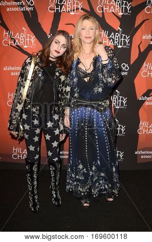 LOS ANGELES - OCT 15:  Frances Bean Cobain, Courtney Love at the 5th Annual Hilarity for Charity Variety Show: Seth Rogen's Halloween at Hollywood Palladium, on October 15, 2016 in Los Angeles, CA