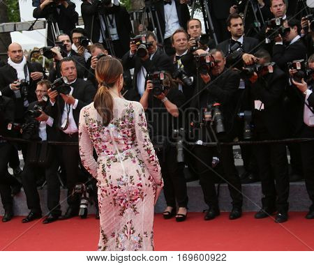 Actress Elsa Zylberstein attends the 'Money Monster' Premiere during the 69th annual Cannes Film Festival on May 12, 2016 in Cannes, France.