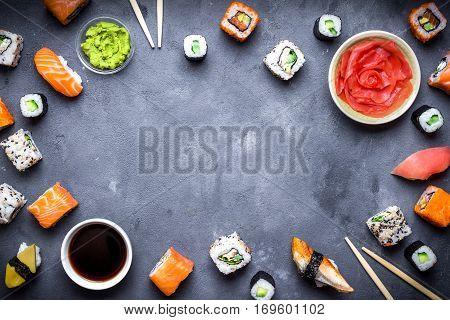 Japanese Sushi Background