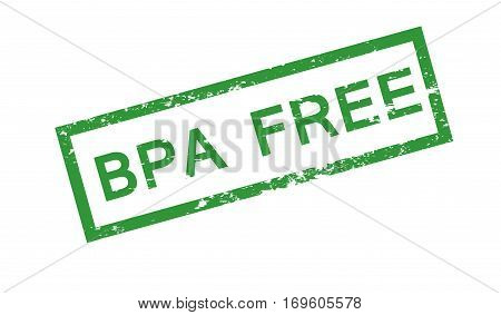 Bpa free stamp isolated on white background