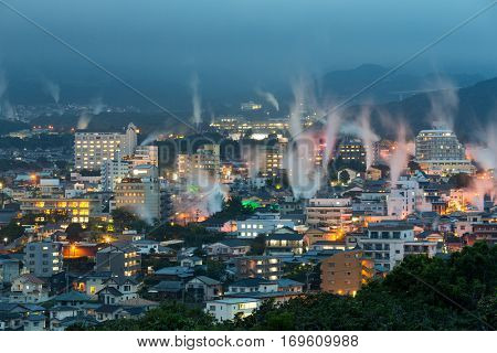 Beppu city at night
