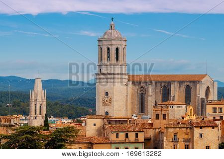Old Cathedral of the Virgin Mary in Girona.