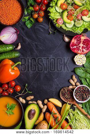 Vegan Dinner Background