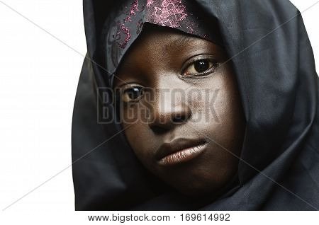 African Muslim Clothing Worn by a Beautiful African Girl