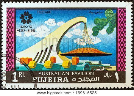 FUJAIRAH EMIRATE - CIRCA 1970: A stamp printed in United Arab Emirates from the