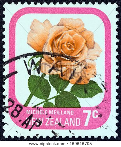 NEW ZEALAND - CIRCA 1975: A stamp printed in New Zealand from the