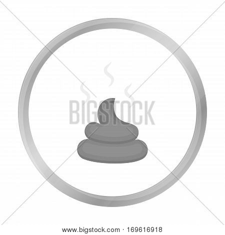 Faeces vector illustration icon in monochrome design
