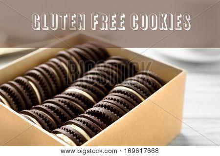 Gluten free cookies concept