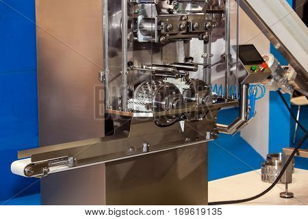 Manufacture of semi-finished products. Dumpling machine view