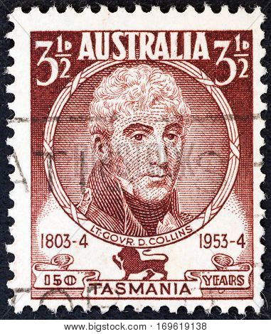 AUSTRALIA - CIRCA 1953: A stamp printed in Australia from the