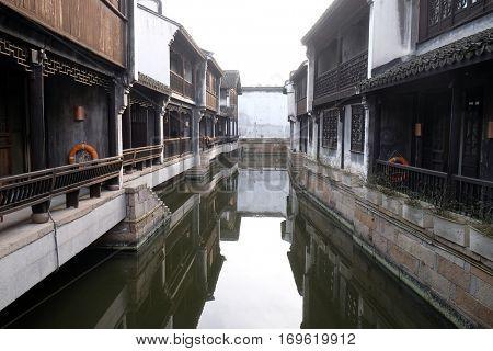 JIAXING, CHINA - FEBRUARY 21: Yuehe Hotel, Nanhu Qu, Jiaxing Shi, Zhejiang Sheng, on February 21, 2016 in Jiaxing, China.