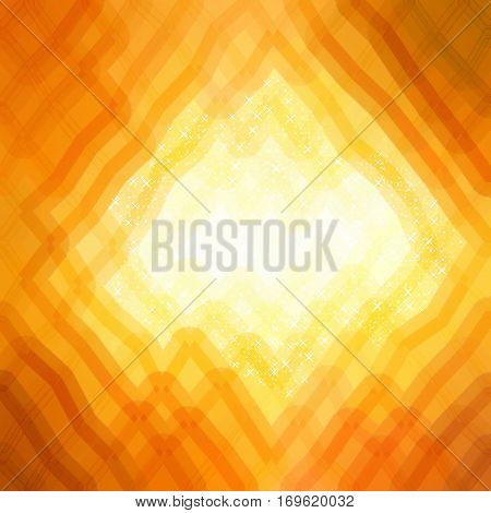 Abstract glare orange rhombus shape mesh design modern background