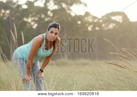 Pregnat Woman Taking A Fitness Workout Rest