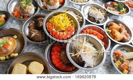 Thailand street food, dim sum