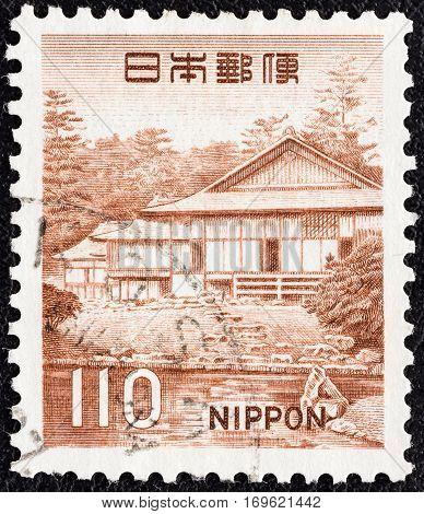 JAPAN - CIRCA 1966: A stamp printed in Japan shows Garden of Katsura Palace, circa 1966.