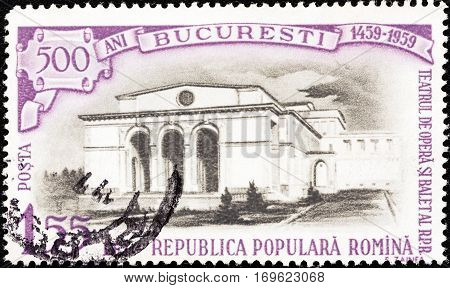 ROMANIA - CIRCA 1959: A stamp printed in Romania from the