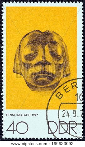GERMAN DEMOCRATIC REPUBLIC - CIRCA 1970: A stamp printed in Germany from the