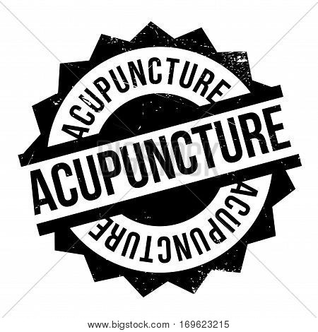 Acupuncture rubber stamp. Grunge design with dust scratches. Effects can be easily removed for a clean, crisp look. Color is easily changed.