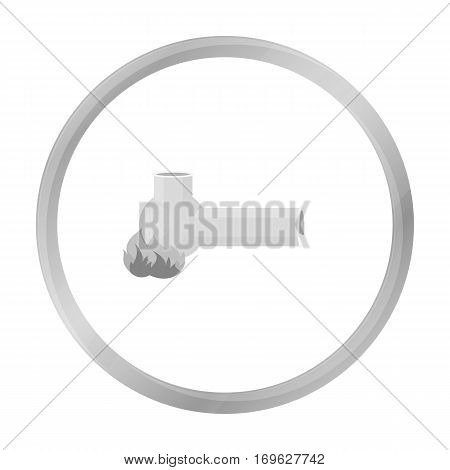 Hashish pipe icon in monochrome style isolated on white background. Drugs symbol vector illustration.